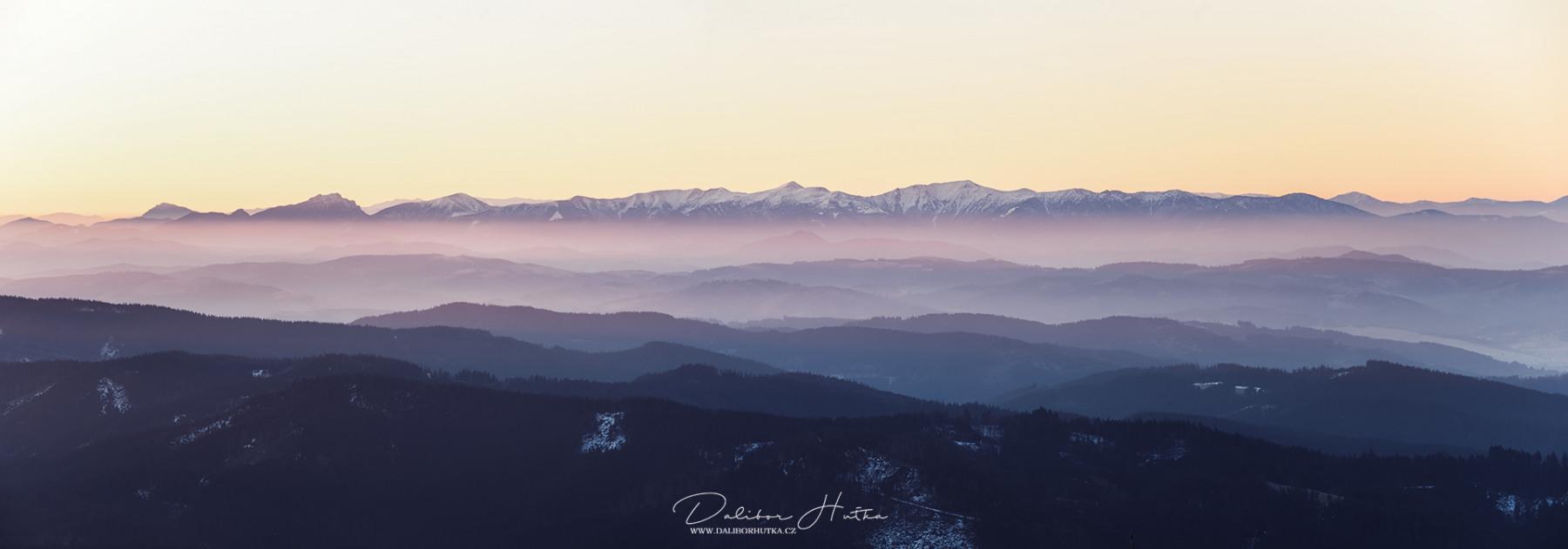 Pohled na Malou Fatru z Lysé hory